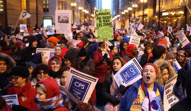 Chicago: Strajk I Pikieta Nauczycieli